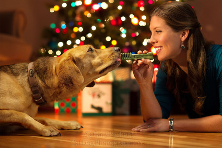 CHRISTMAS AD FOR GREENIES DOG & CAT TREATS