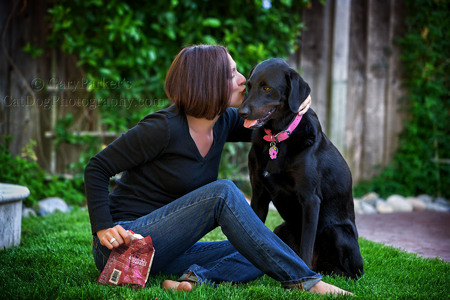 DIANNE WITH BAILEY, A LABRADOR RETREIVER / AUSTRALIAN RIDGEBACK MIX...
