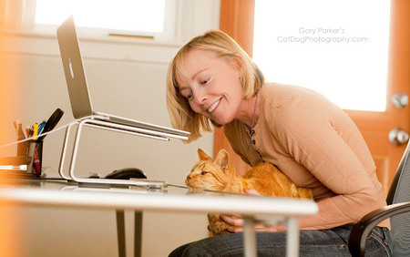 THIS WAS A BUSINESS SHOOT - NOT A CAT SHOOT - BUT THE INTERRUPTION WAS WELCOMED...